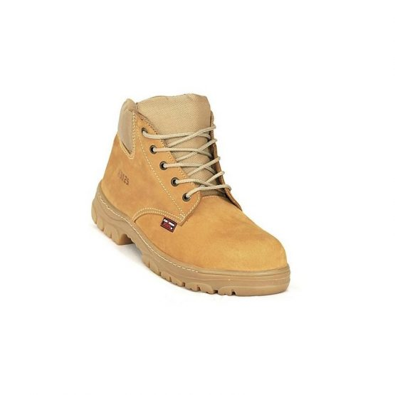 calzado-zafra-nobuck-oro bota puntera metalica