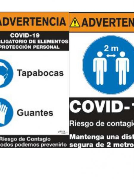 SEÑAL ADVERTENCIA COVID