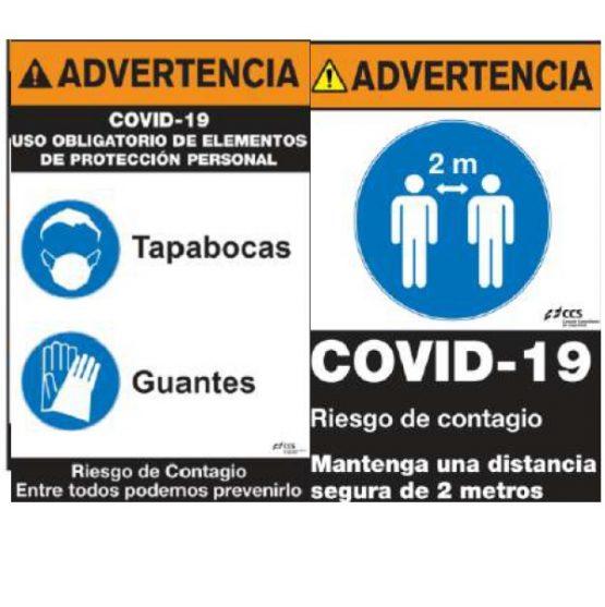 SEÑAL ADVERTENCIA COVID